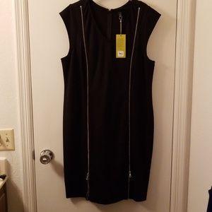 6th & Lane black bodycon dress